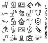 security icons set. set of 25... | Shutterstock .eps vector #647347174