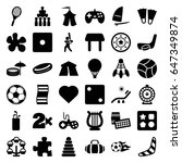 leisure icons set. set of 36... | Shutterstock .eps vector #647349874