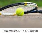 tennis ball and racket   Shutterstock . vector #647353198