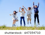 japanese young   group outdoor... | Shutterstock . vector #647354710