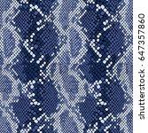 snake skin seamless vector... | Shutterstock .eps vector #647357860