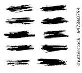 ink vector brush strokes set.... | Shutterstock .eps vector #647360794