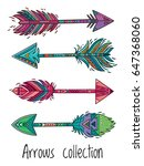 tribal arrows collection with...   Shutterstock .eps vector #647368060