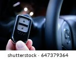 car key with remote control... | Shutterstock . vector #647379364