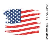 usa flag grunge background. can ... | Shutterstock .eps vector #647386840