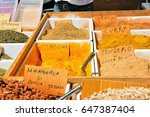 turmeric ginger and various... | Shutterstock . vector #647387404