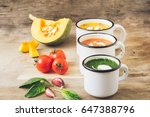 homemade vegetarian soup made... | Shutterstock . vector #647388796