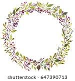 herbal design set. spring or... | Shutterstock . vector #647390713