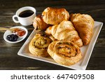 french pastries | Shutterstock . vector #647409508