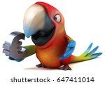 Fun Parrot   3d Illustration