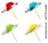 illustration of beach umbrella | Shutterstock .eps vector #647411680