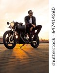 handsome rider man with beard... | Shutterstock . vector #647414260