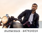 handsome rider guy with beard... | Shutterstock . vector #647414314