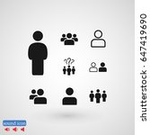 people icon  stock vector... | Shutterstock .eps vector #647419690