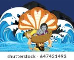 illustration of krishna... | Shutterstock .eps vector #647421493