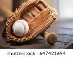 baseball bat  ball and glove | Shutterstock . vector #647421694