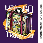 hand drawn doodle travel...   Shutterstock .eps vector #647421808