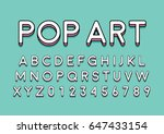 vector of modern colorful font... | Shutterstock .eps vector #647433154