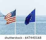 eu and us flags | Shutterstock . vector #647440168
