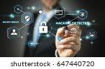 businessman on blurred... | Shutterstock . vector #647440720