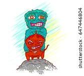 monster vector illustration   Shutterstock .eps vector #647446804