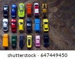 horizontal top view assorted... | Shutterstock . vector #647449450