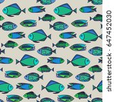 fish vector illustration.... | Shutterstock .eps vector #647452030