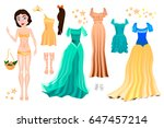 vector illustration of princess ... | Shutterstock .eps vector #647457214