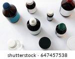 medications in glass bottles.... | Shutterstock . vector #647457538