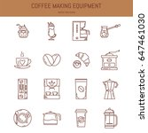 vector coffee equipment icon... | Shutterstock .eps vector #647461030