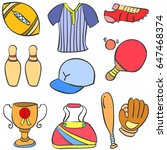 collection stock of sport... | Shutterstock .eps vector #647468374