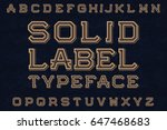 solid label typeface font.... | Shutterstock .eps vector #647468683