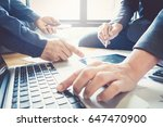 close up business man hand... | Shutterstock . vector #647470900