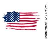 grunge usa flag   Shutterstock .eps vector #647475094
