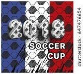 pattern for football...   Shutterstock .eps vector #647476654