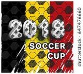pattern for football...   Shutterstock .eps vector #647476660