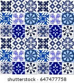 blue portuguese tiles pattern   ...   Shutterstock .eps vector #647477758