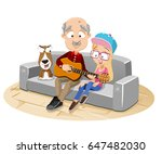 vector cartoon illustration of... | Shutterstock .eps vector #647482030