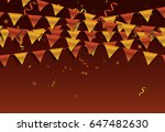 vector celebrate banner  party...   Shutterstock .eps vector #647482630