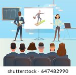 presentation of the project.... | Shutterstock .eps vector #647482990