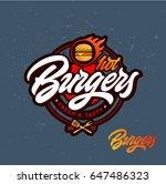 hot burgers vector logo ... | Shutterstock .eps vector #647486323