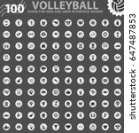 volleyball icons for web and... | Shutterstock .eps vector #647487853