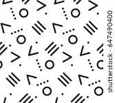 abstract modern memphis texture.... | Shutterstock .eps vector #647490400