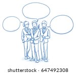 modern business team looking... | Shutterstock .eps vector #647492308