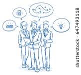modern business team looking... | Shutterstock .eps vector #647493118