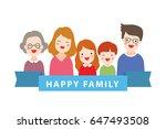 cute vector illustration flat... | Shutterstock .eps vector #647493508