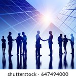 business illustration. working... | Shutterstock . vector #647494000