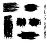 vector set of black brush... | Shutterstock .eps vector #647494306