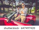 young elegant business men... | Shutterstock . vector #647497420