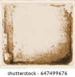 retro sepia paper closeup with... | Shutterstock . vector #647499676